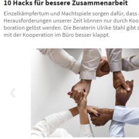 10 Hacks fuer bessere Zusammenarbeit office-roxx.de 04 2019 Expertin fuer kooperative Zusammenarbeit Ulrike Stahl