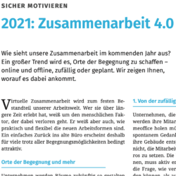 2021 Zusammenarbeit 4.0_Führung&Management aktuell 05_2021 von Ulrike Stahl Teamentwicklung für virtuelle und globale Teams