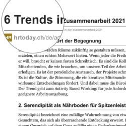 6 Trends in der Zusammenarbeit 2021 veroeffentlicht auf hrtoday.ch 01_2021 von Ulrike Stahl Teamentwicklung fuer verteilte, virtuelle und internationale Teams