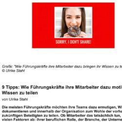 9 Tipps für Führungskräfte veröffentlicht auf frauen-business.at 02_2021 von Ulrike Stahl Workshops, die das WIR-Gefühl im Team entfalten