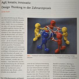 Agil kreativ innovativ Design Thinking in der Zahnarztpraxis Quintessenz Team Journal 12 2018 Expertin fuer das neue WIR Ulrike Stahl