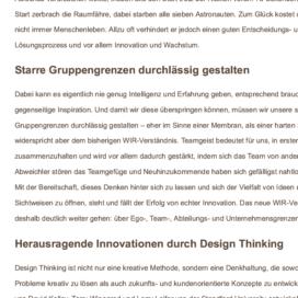 Agil kreativ innovativ Design Thinking statt Groupthink Expertin fuer das neue WIR Ulrike Stahl