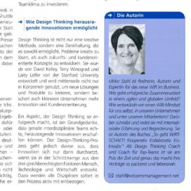 Agil, kreativ, innovativ Design statt Groupthinking wissensmanagement 02 2019 Expertin fuer kooperative Zusammenarbeit Ulrike Stahl