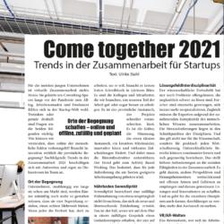 Come together 2021_StartupValley 01_2021 von Ulrike Stahl Organisationsentwicklung fuer agile Teams und Unternehmen