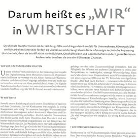 Darum heisst es WIR in der WIRTSCHAFT Optic+Vision 01 2019 Expertin fuer kooperative Zusammenarbeit Ulrike Stahl