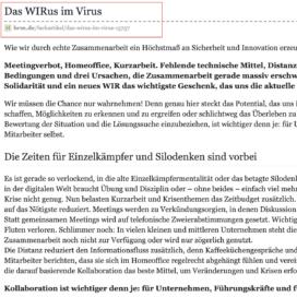 Das WIRus im Virus auf HRM 05_20 von Ulrike Stahl Rednerin fuer Kooperation und Zusammenarbeit
