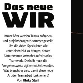 Das neue WIR_BILDUNGaktuell 08_2019 von Ulrike Stahl Organisationsentwicklung für agile Teams und Unternehmen