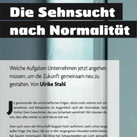 Die Sehnsucht nach Normalität_BILDUNGaktuell_ePaper 11_2020 von Ulrike Stahl Teamentwicklung für virtuelle und globale Teams