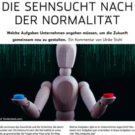 Die Sehnsucht nach der Normalität_Elektronik neo 11_2020 von Ulrike Stahl Teamentwicklung für verteilte, virtuelle und internationale Teams