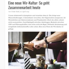 Eine neue Wir Kultur So geht Zusammenarbeit heute eyebizz.de 04 2019 Expertin fuer kooperative Zusammenarbeit Ulrike Stahl