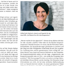 Erfolgsfaktor Kooperation Die erfolgreiche Apotheke 05 2019 Expertin fuer kooperative Zusammenarbeit Ulrike Stahl