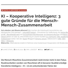 KI Kooperative Intelligenz 3 gute Gruende fuer die Mensch-Mensch-Zusammenarbeit in Berufebilder 06_20 von Ulrike Stahl Rednerin fuer Kooperation