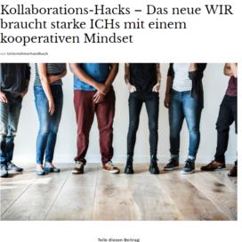 Kollaborations Hacks Das neue WIR braucht starke ICHs mit einem kooperativen Mindset 03 2019 Expertin fuer kooperative Zusammenarbeit Ulrike Stahl