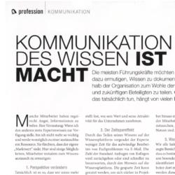 Kommunikation des Wissen ist Macht_austrian business woman 03_2021 von Ulrike Stahl Teamworkshops live und online für globale und internationale Teams