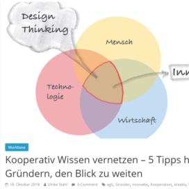 Kooperativ Wissen vernetzen 5 Tipps helfen Gruendern, den Blick zu weiten 10 2018 Expertin fuer das neue WIR Ulrike Stahl