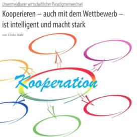 Kooperieren auch mit dem Wettbewerb ist intelligent und macht stark_dgw 10_2019 von Ulrike Stahl Workshops, die das WIR-Gefühl im Team entfalten