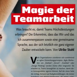 Magie der Teamarbeit 04 2018 Expertin fuer das neue WIR Ulrike Stahl