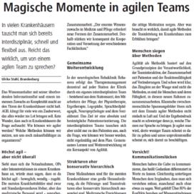 Magische Momente in agilen Teams Management&Krankenhaus 09 2018 Expertin fuer das neue WIR Ulrike Stahl