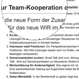 Management und Führung in der WIR Kultur 10 Tipps zur Team-Kooperation ohne Silomentalitaet_berufebilder.de 07_2019 von Ulrike Stahl Workshops, die das WIR-Gefühl im Team entfalten