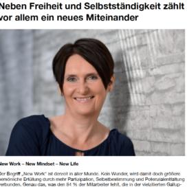 Neben Freiheit und Selbständigkeit zählt vor allem ein neues Miteinander HR Performance Expertin fuer das neue WIR Ulrike Stahl
