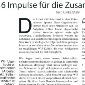 New Work und das neue WIR 6 Impulse für die Zusammenarbeit 4.0 StartupValley 06 2019 Expertin fuer kooperative Zusammenarbeit Ulrike Stahl