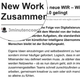 New Work und das neue WIR Wie agile Zusammenarbeit 4.0 gelingt_3minutencoach.com 08_2019 von Ulrike Stahl Teamentwicklung für verteilte, virtuelle und internationale Teams