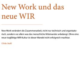 New Work und das neue WIR_Wirtschaftsinformatik & Management 10_2019 von Ulrike Stahl Teamworkshops für Hochleistungsteams