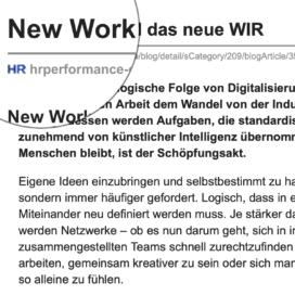 New Work und das neue WIR_hrperformance-online.de 09_2019 von Ulrike Stahl Teamworkshops live und online für globale und internationale Teams