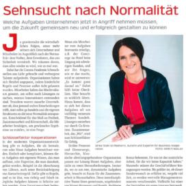 Sehnsucht nach Normalität_bindereport 11_2020 von Ulrike Stahl Organisationsentwicklung für agile Teams und Unternehmen
