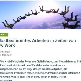 Selbstbestimmtes Arbeiten in Zeiten von New Work onpulson.de 05 2019 Expertin fuer kooperative Zusammenarbeit Ulrike Stahl