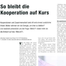 So bleibt die Kooperation auf Kurs MB Revue 10 2018 Expertin fuer das neue WIR Ulrike Stahl