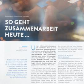 So geht Zusammenarbeit heute kooperativ kollaborativ kokreativ vem magazin 12 2018 Expertin fuer das neue WIR Ulrike Stahl