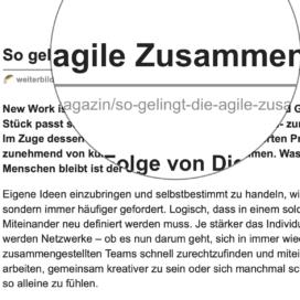 So gelingt die agile Zusammenarbeit_weiterbildungsmarkt.net 07_2019 von Ulrike Stahl Teamworkshops für Hochleistungsteams
