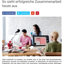 So sieht erfolgreiche Zusammenarbeit heute aus 3minutescoach.com 04 2019 Expertin fuer kooperative Zusammenarbeit Ulrike Stahl