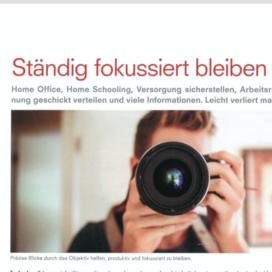 Staendig fokussiert bleiben in Bindereport 05_20 von Ulrike Stahl Keynote Speaker fuer Kollaboration