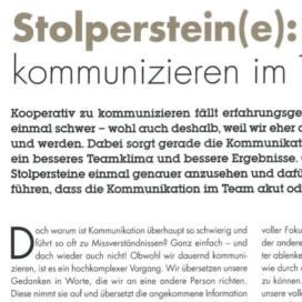Stolpersteine: Kooperativ kommunizieren im Team_rhw management 08_2019 von Ulrike Stahl Teamentwicklung für verteilte, virtuelle und internationale Teams