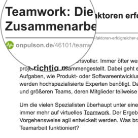 Teamwork: Die 4 Faktoren erfolgreicher Zusammenarbeit_onpulson.de 07_2019 von Ulrike Stahl Teamentwicklung für virtuelle und globale Teams