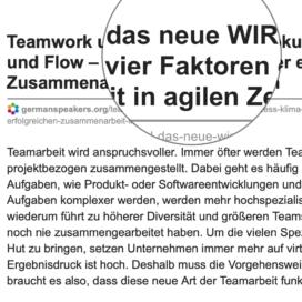 Teamwork und das neue WIR Fokus Prozess Klima und Flow - die vier Faktoren einer erfolgreichen Zusammenarbeit in agilen Zeiten_germanspeakers.org 10_2019 von Ulrike Stahl Teamworkshops live und online für globale und internationale Teams