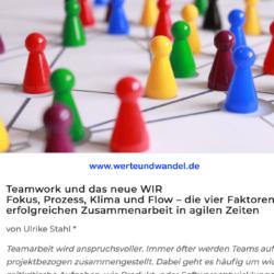 Teamwork und das neue WIR - Werte und Wandel 06_2019 Ulrike Stahl Expertin fuer agile Zusammenarbeit