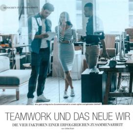 Teamwork und das neue WIR_kmu Rundschau 12_2019 von Ulrike Stahl Organisationsentwicklung für agile Teams und Unternehmen