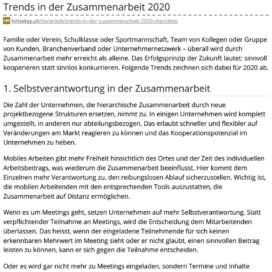 Trends in der Zusammenarbeit 2020 - HRtoday 01_20 von Ulrike Stahl Keynote Speaker, Rednerin fuer Kooperation und erfolgreiche agile Zusammenarbeit