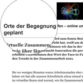 Trends in der Zusammenarbeit 2021 veröffentlicht auf brainguide.de 12_2020 von Ulrike Stahl Teamentwicklung für verteilte, virtuelle und internationale Teams