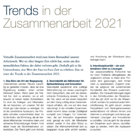 Trends in der Zusammenarbeit 2021_seminar.inside 12_2020 von Ulrike Stahl Teamentwicklung für verteilte, virtuelle und internationale Teams