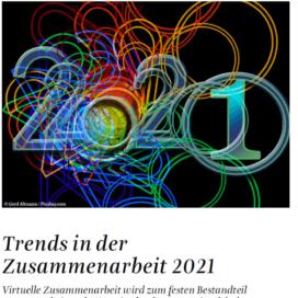 Trends in der Zusammenarbeit_Organisator 11_2020 von Ulrike Stahl Teamworkshops live und online für globale und internationale Teams
