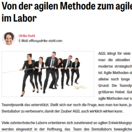 """Von der agilen Methode zum agilen """"WIR"""" im Labor Expertin fuer das neue WIR Ulrike Stahl"""