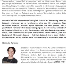Von der agilen Methode zum agilen WIR 2018 Expertin fuer kooperative Zusammenarbeit Ulrike Stahl