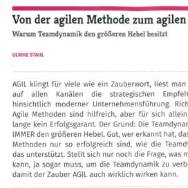 Von der agilen Methode zum agilen WIR it Service Management 03 2019 Expertin fuer kooperative Zusammenarbeit Ulrike Stahl