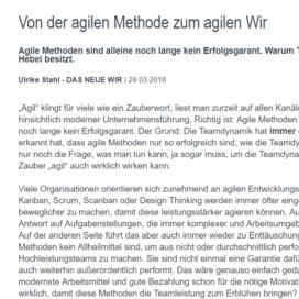 Von der agilen Methode zum agilen Wir 03 2018 Expertin fuer kooperative Zusammenarbeit Ulrike Stahl