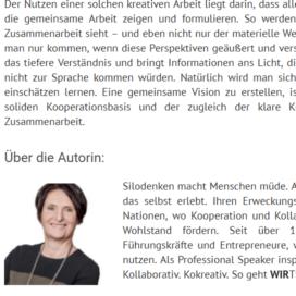 What´s in it for me So bleibt die Kooperation auf Kurs Expertin fuer kooperative Zusammenarbeit Ulrike Stahl