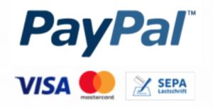 Zahlung mit PayPal: Kreditkarte oder Lastschrift